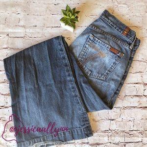 7FAM | Dojo wide leg denim blue jeans pants 26